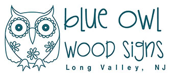 Blue Owl Wood Signs Logo