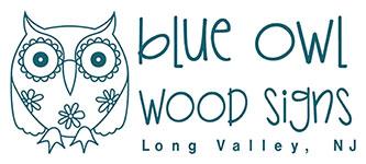 Blue Owl Wood Signs Logo